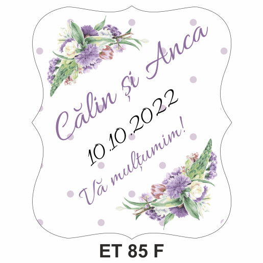 Eticheta pentru sticla ET 85 F