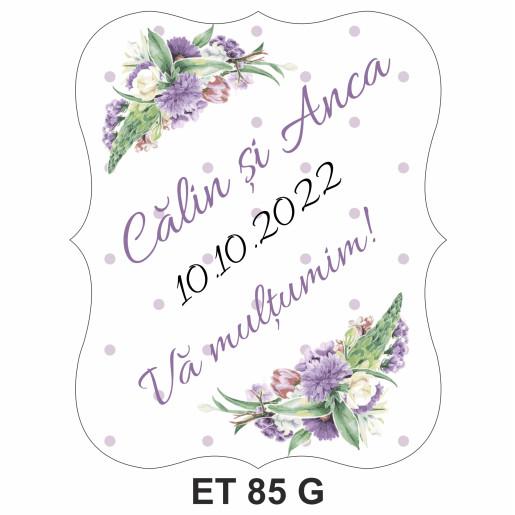 Eticheta pentru sticla ET 85 G