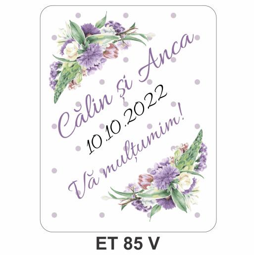 Eticheta pentru sticla ET 85 V