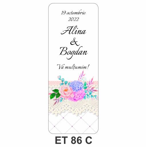 Eticheta pentru sticla ET 86 C