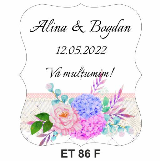 Eticheta pentru sticla ET 86 F