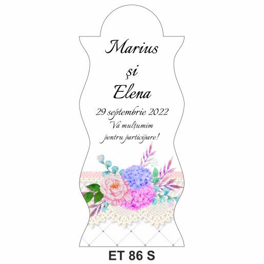 Eticheta pentru sticla ET 86 S