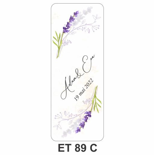 Eticheta pentru sticla ET 89 C