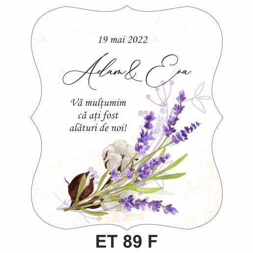 Eticheta pentru sticla ET 89 F