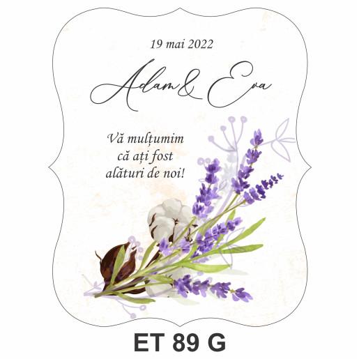 Eticheta pentru sticla ET 89 G