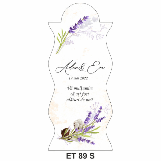 Eticheta pentru sticla ET 89 S