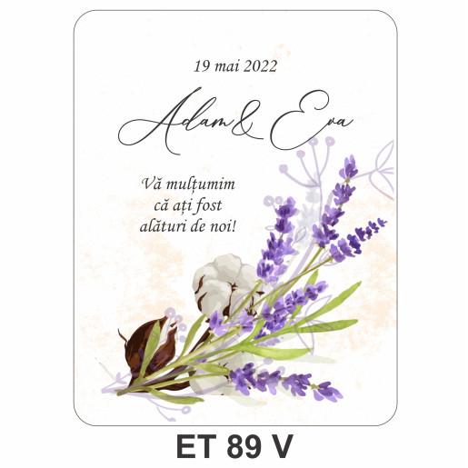 Eticheta pentru sticla ET 89 V