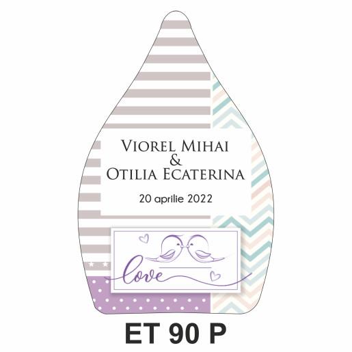 Eticheta pentru sticla ET 90 P