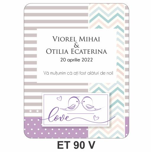 Eticheta pentru sticla ET 90 V