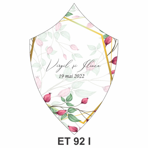 Eticheta pentru sticla ET 92 I