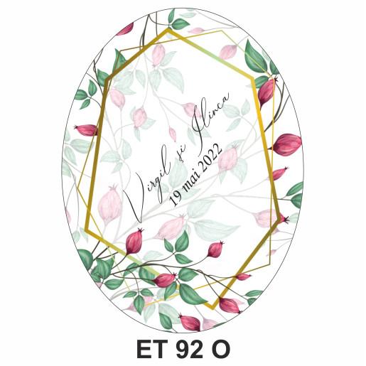 Eticheta pentru sticla ET 92 O