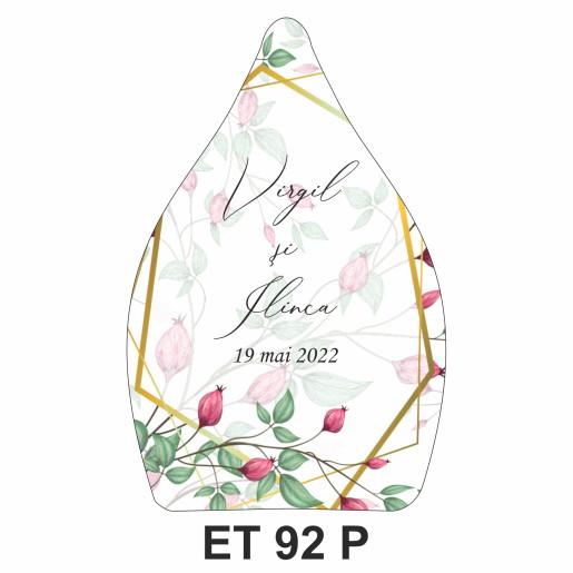 Eticheta pentru sticla ET 92 P
