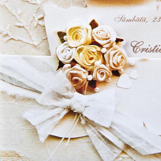 Invitatie de nunta papirus florala 1072 Polen