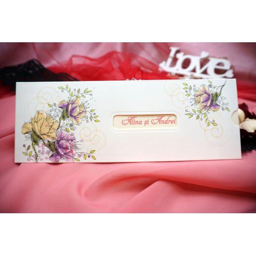 Invitatie de nunta florala 132