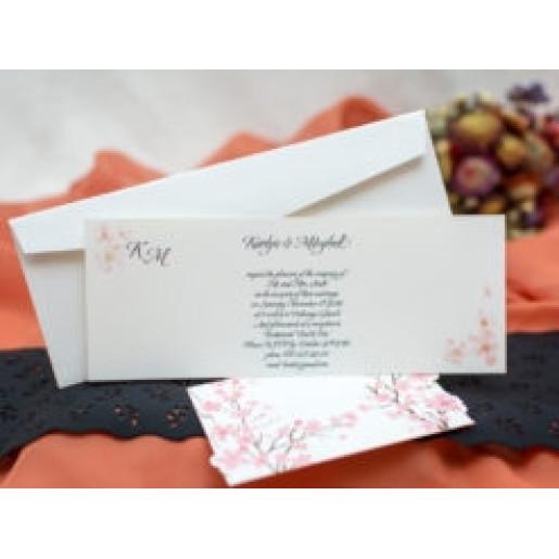 Invitatie de nunta florala 138