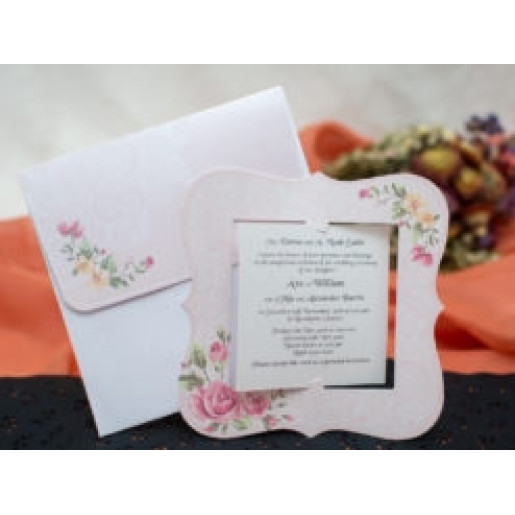 Invitatie de nunta eleganta florala 141