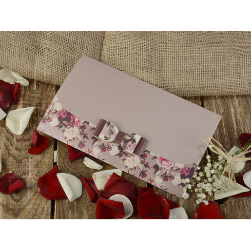 Invitatie florala cu fundita 16258 ARMONI