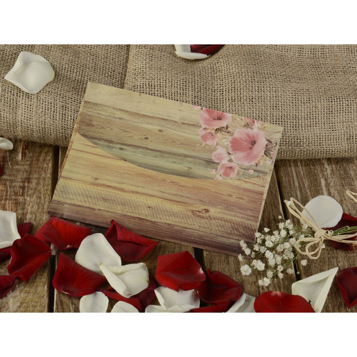 Invitatie rustica cu tema florala 16273 ARMONI