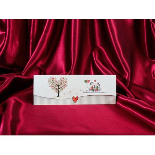 Invitatie de nunta haioasa cu miri si copacel 164