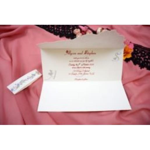 Invitatie de nunta rustica dantelata 167