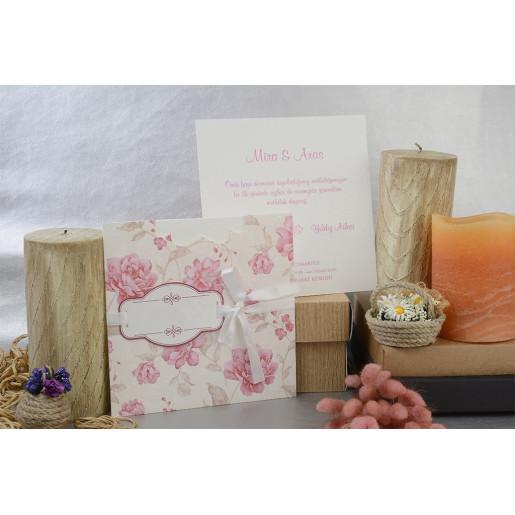 Invitatie cu tema florala si fundita 17004 ARMONI