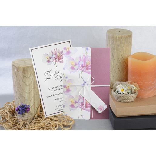 Invitatie florala cu fundita 17057 ARMONI
