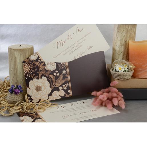 Invitatie eleganta florala 17063 ARMONI