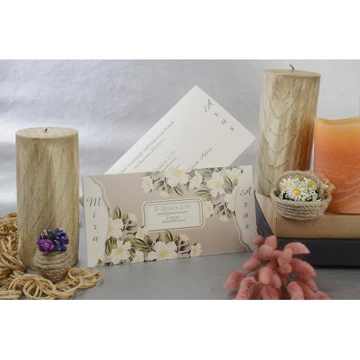 Invitatie cu tema florala 17099 ARMONI
