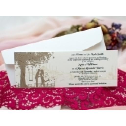 Invitatie de nunta romantica cu miri 174