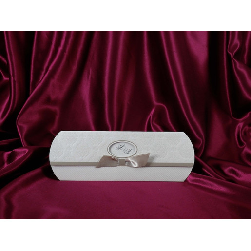 Invitatie de nunta baroc cu fundita 191