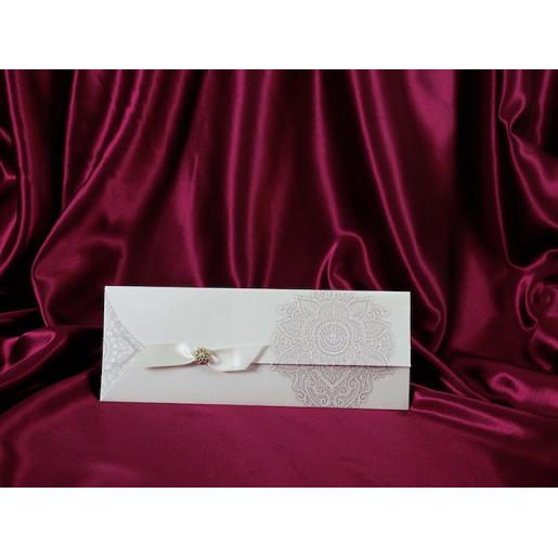 Invitatie de nunta eleganta cu fundita 192