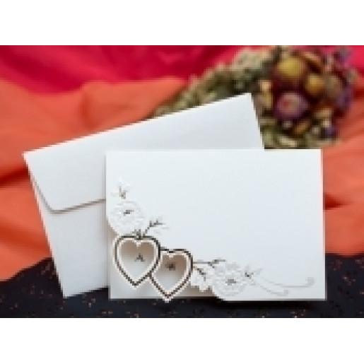 Invitatie de nunta florala cu inimioare 207