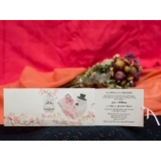 Invitatie romantica cu porumbei 235