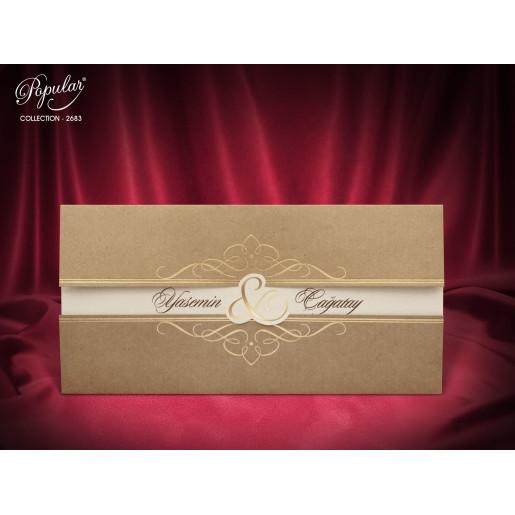 Invitatie de nunta vintage 2683