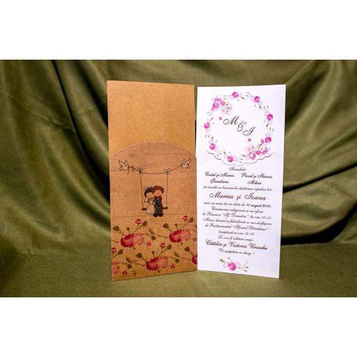Invitatie de nunta 4011 BUKET-BEST