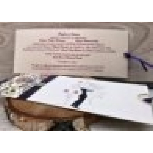 Invitatie de nunta cu flori si miri 446