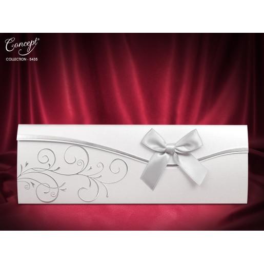 Invitatie de nunta argintie cu fundita 5435 CONCEPT