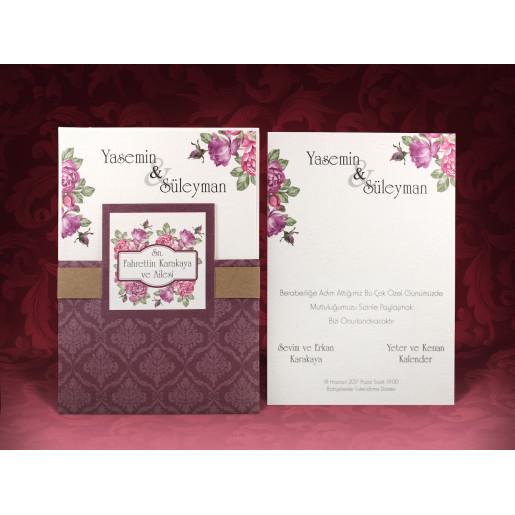Invitatie De Nunta Florala 637