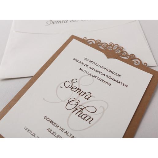 Invitatie De Nunta Dantelata 70186 KRISTAL