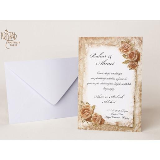 Invitatie de nunta cu trandafir 70192