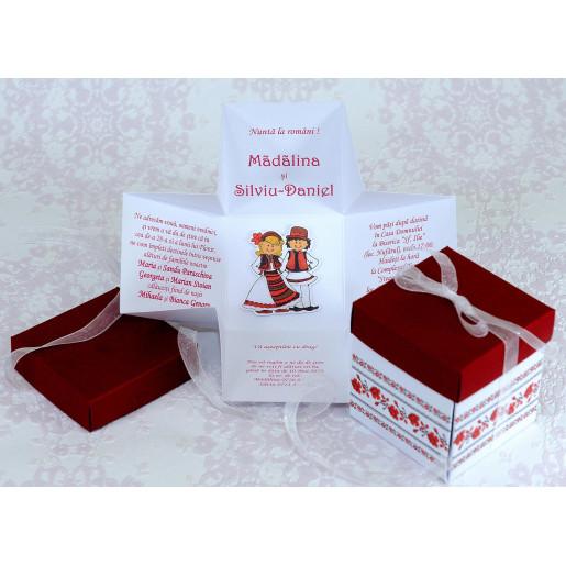 Invitatie de nunta model traditional tip cutie 2218 POLEN