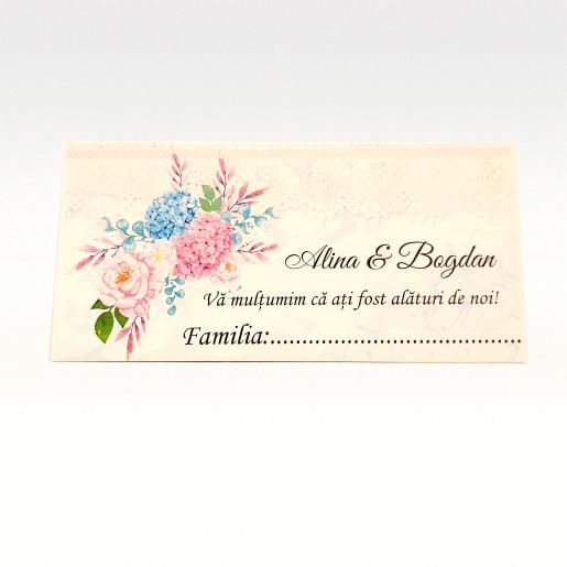 Eticheta - Card dublu perforat alb 92