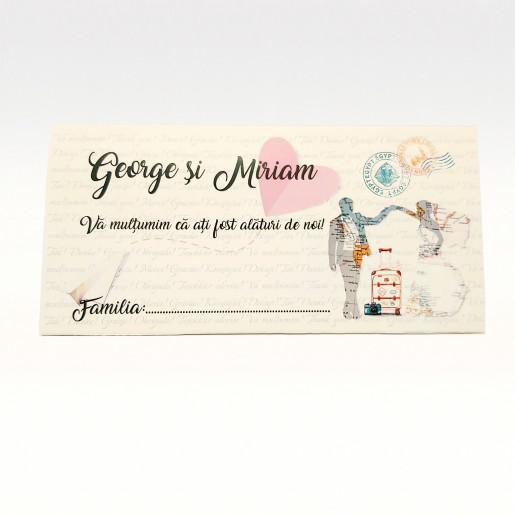 Plic pentru bani Romantic Journey PB87 - Crem