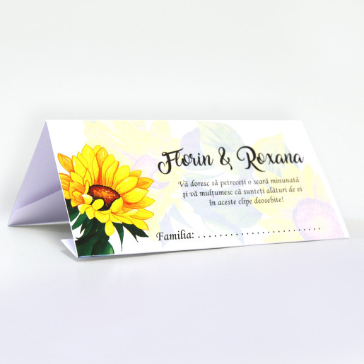 Plic pentru bani cu floarea-soarelui PB94 - Alb