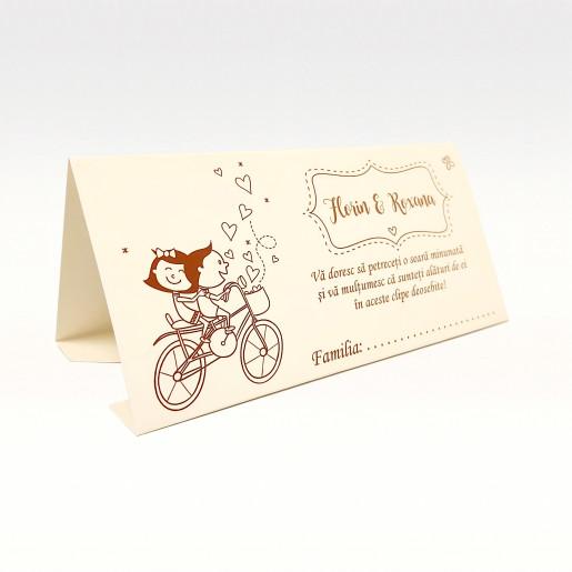 PB95 Alb - Plic pentru bani cu miri pe bicicleta