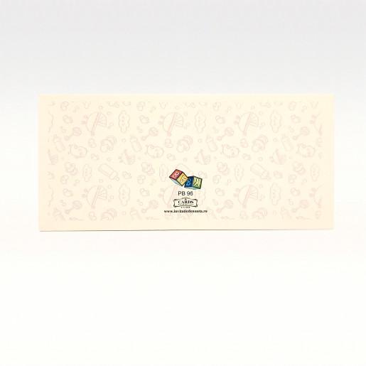 PB96 Alb - Plic pentru bani botez fetita