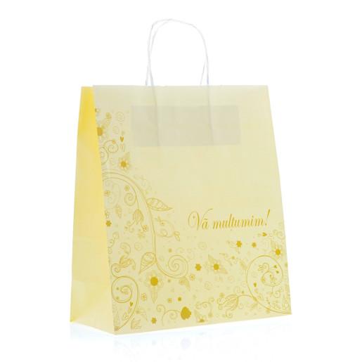 Punga nunta crem model floral elegant auriu PN 10005