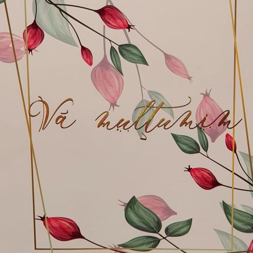 Punga nunta PREMIUM cu frunzulite si macese PT 200