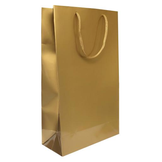 Punga cadouri plastifiata E mare aurie