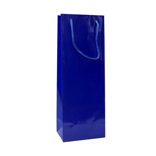 Punga cadouri plastifiata C sticla albastra